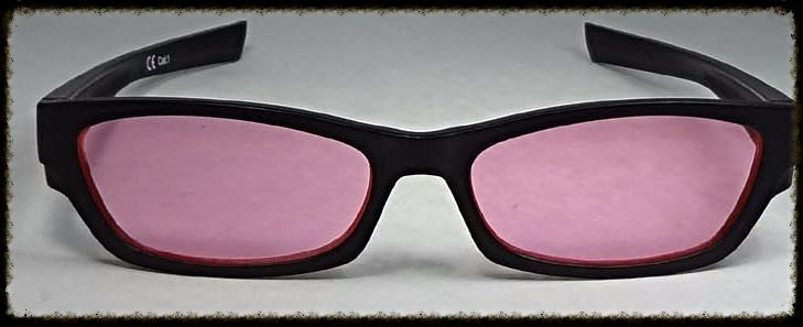 Magenta/ pink  glasses  suitable for age 10 upwards